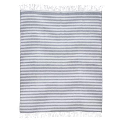 Wohndecke Blankets-Stripes mit Fransen - Kuscheldecke in Streifen-Optik grau / weiß - 150x200 cm / 30°C waschbar – Bild 4