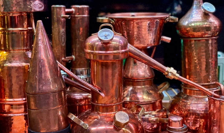 Hobby-sized copper stills