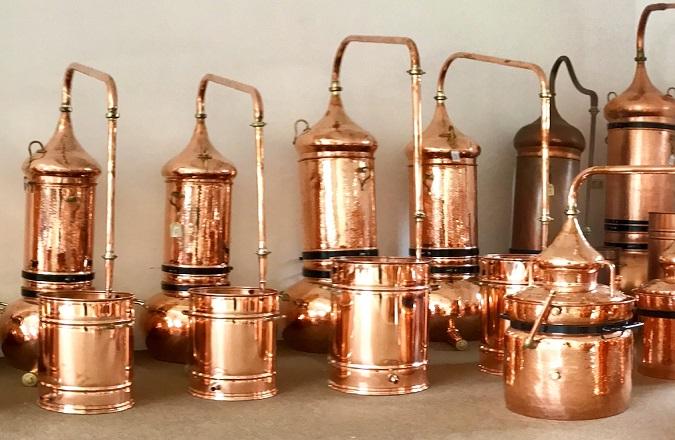 Destille mit Kolonne