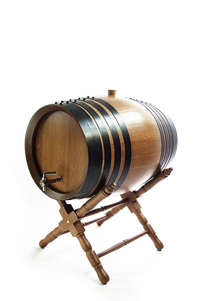 8 L American Oak Barrel with Stand, dark oak, toasted