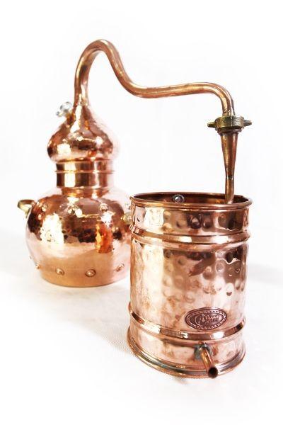 Alambic en cuivre artisanal 3 L  riveté  avec thermomètre -  CopperGarden