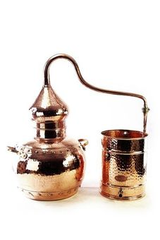 """CopperGarden®"" alembic still 5L with thermometer, riveted"