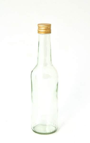 Clear 0,35 L bottle with screw cap