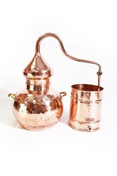 CopperGarden®  still alembic 20 L, riveted with thermometer