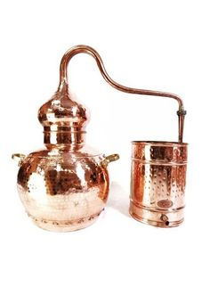 """CopperGarden®"" alembic 30L, riveted with thermometer"