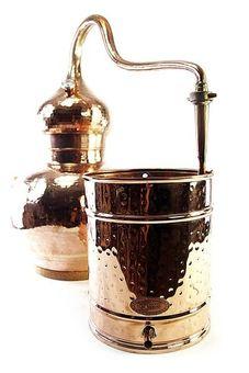 """""""CopperGarden®"""" Alambicco con caldaia saldata, capacitá 5 litri con termometro"""