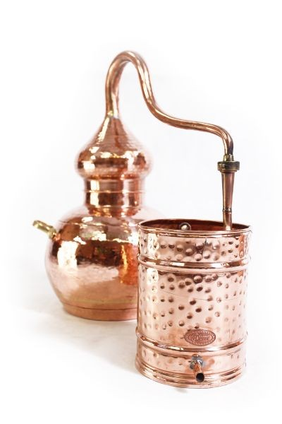 CopperGarden®  still Alembic10L, welded & thermometer