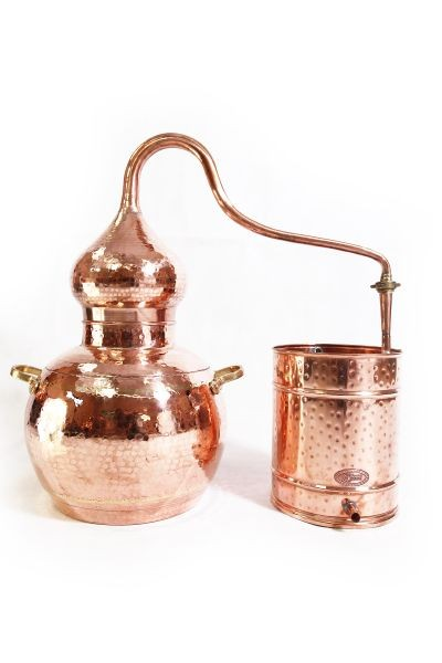 CopperGarden®  still Alembic 30L, welded & thermometer