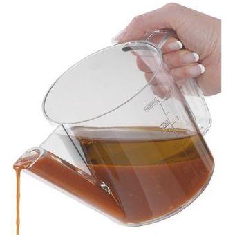 Fett-Trennkanne / Ölabscheider Kunststoff 1L