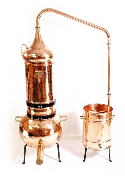 Alambicco con colonna  CopperGarden®  50 litri e termometro