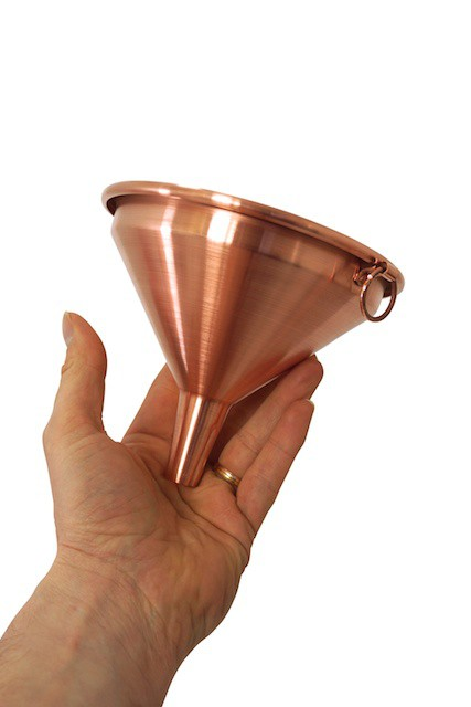 CopperGarden®  entonnoir en cuivre 15 cm