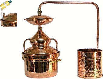 """""""CopperGarden®"""" alambicco idro Pot Still 10 litri con termometro"""