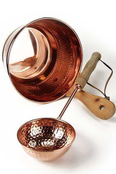 CopperGarden®  Saunaeimer ❀ Schwalleimer ❀ Kupfer mit Kelle