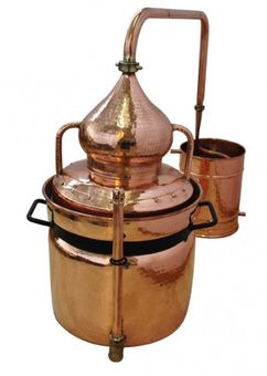 """CopperGarden®"" water bath still ""Hydro"" 30 L & thermometer"
