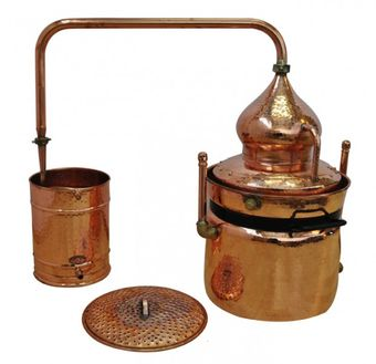 """CopperGarden®"" water bath still ""Hydro"" 50 L & thermometer"