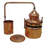 """Alambic à bain-marie 50 litres """"Hydro"""" de  """"CopperGarden®""""  avec thermomètre """"Al-Ambik®"""""""