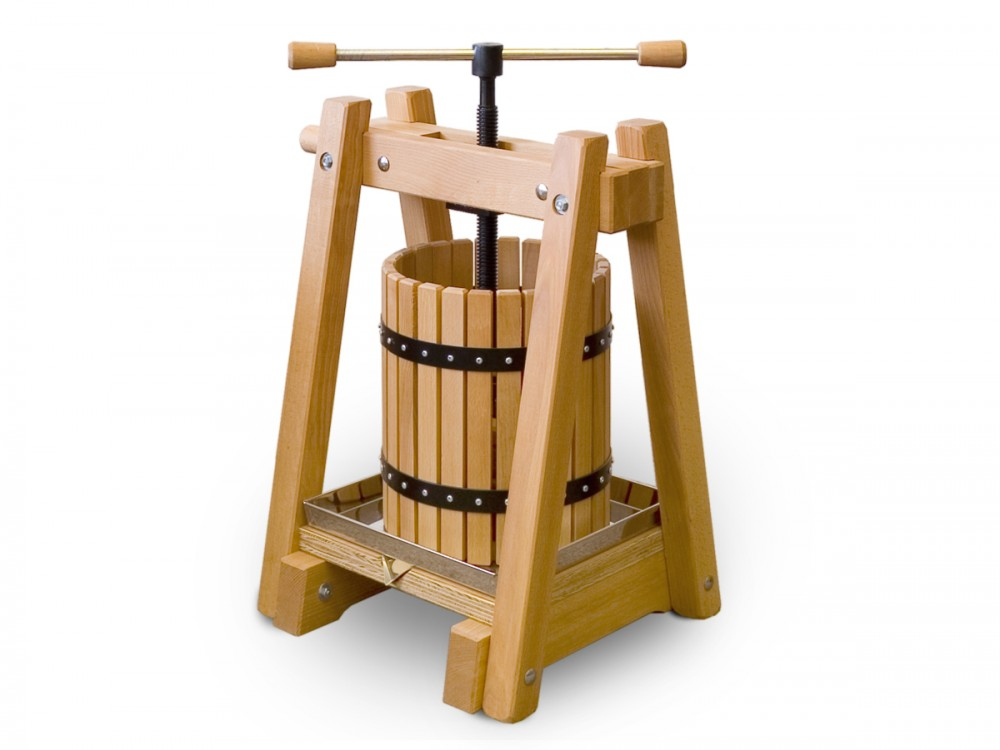 Wine press / fruit press 40 liters, beechwood