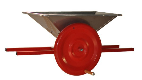 Manual fruit crusher, 10 litres, rotating cylinder mechanism