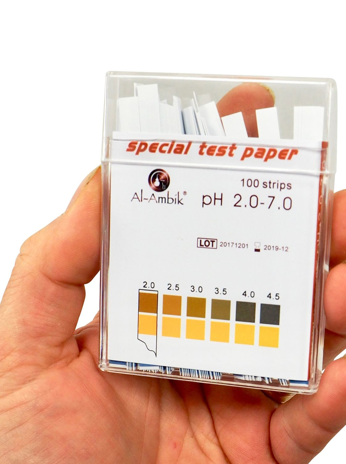 DF  indicatore PH 2-7, 100 strisce per test