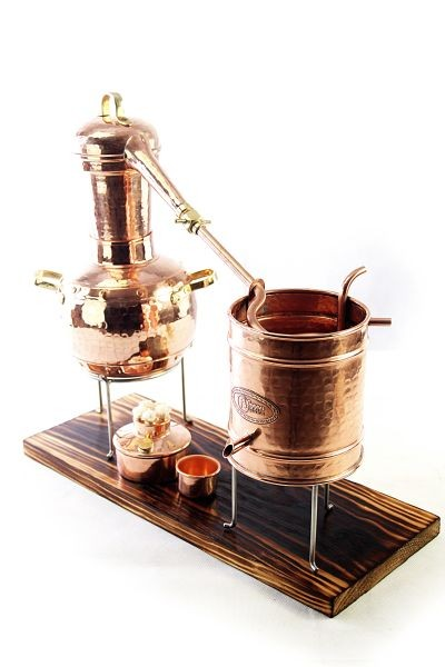 """CopperGarden®"" Table-top Still Arabia  lifetime Supreme  2 litres with alcohol burner & thermometer"