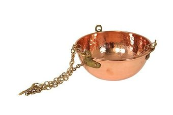 """CopperGarden®"" copper hanging bowl, 2 liters"