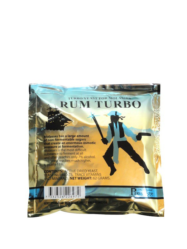 Prestige  Rum Turbo Yeast for Molasses, 62 g for 25 Liter