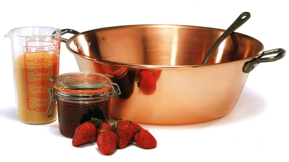 Baumalu  Sauce & marmalade pot / saucepan (40 cm) made of heavy copper
