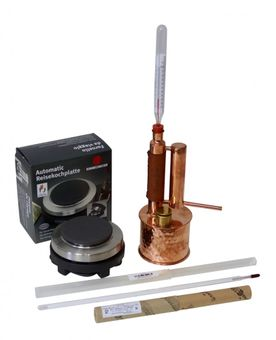 """CopperGarden®"" ""Easy Moonshine"" Distilling Apparatus 0.5 L electric, 500 Watts & Thermometer"