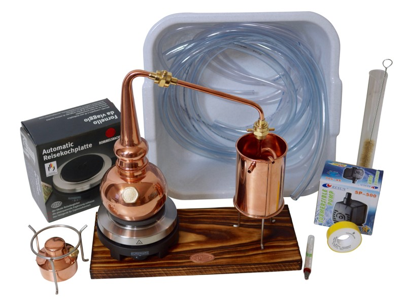 CopperGarden®  Whiskydestille 0,5L Supreme electric 500 im Set mit Pumpe