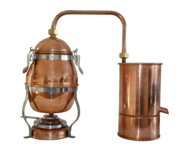 """MS"" Destille ""Hobby"" 1,8 Liter Hausbrennerei mit Spiritusbrenner"