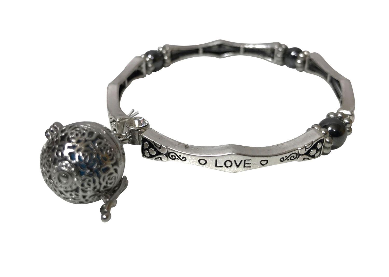 Bracelet  LOVE  avec boule de parfum et aimants