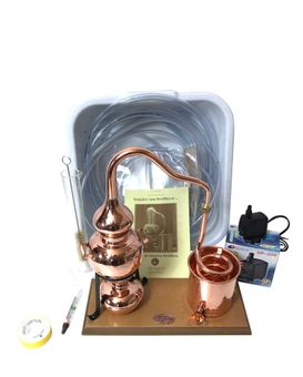 CopperGarden® Table-top still Alembic 0.5 L & Water pump accessory set