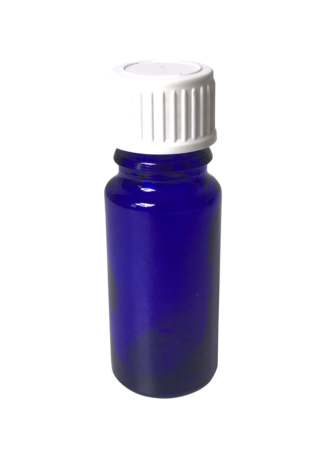 Cobalt Blue Bottle 10 ml DIN 18 Thread & Lid