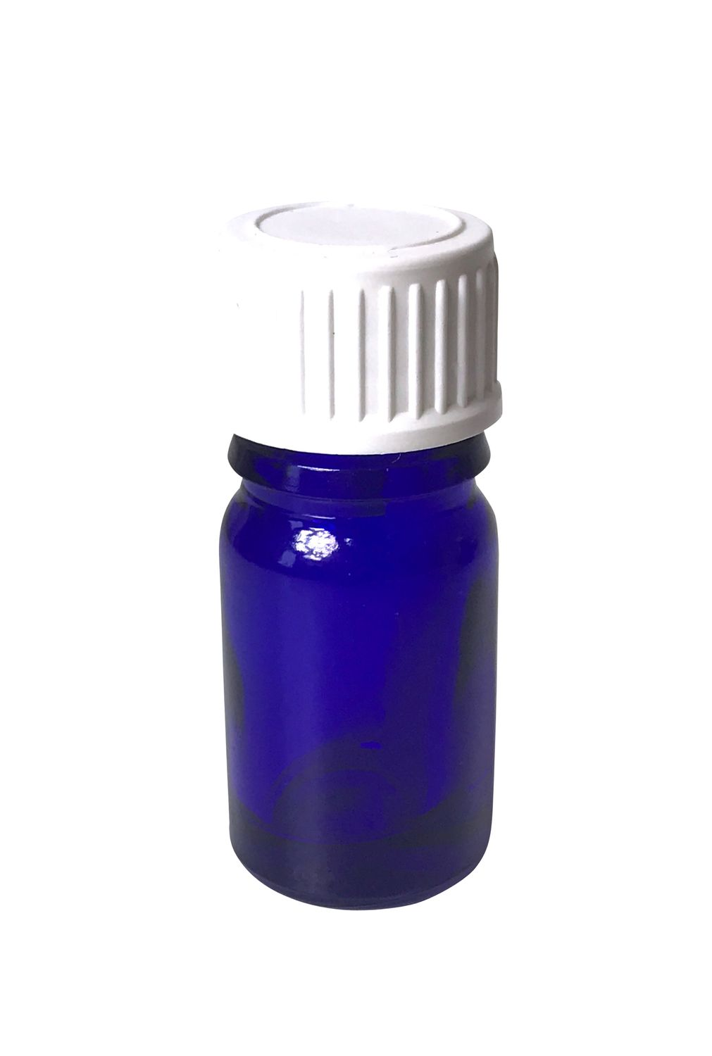 Cobalt Blue Bottle 5 ml with DIN 18 Thread & Lid