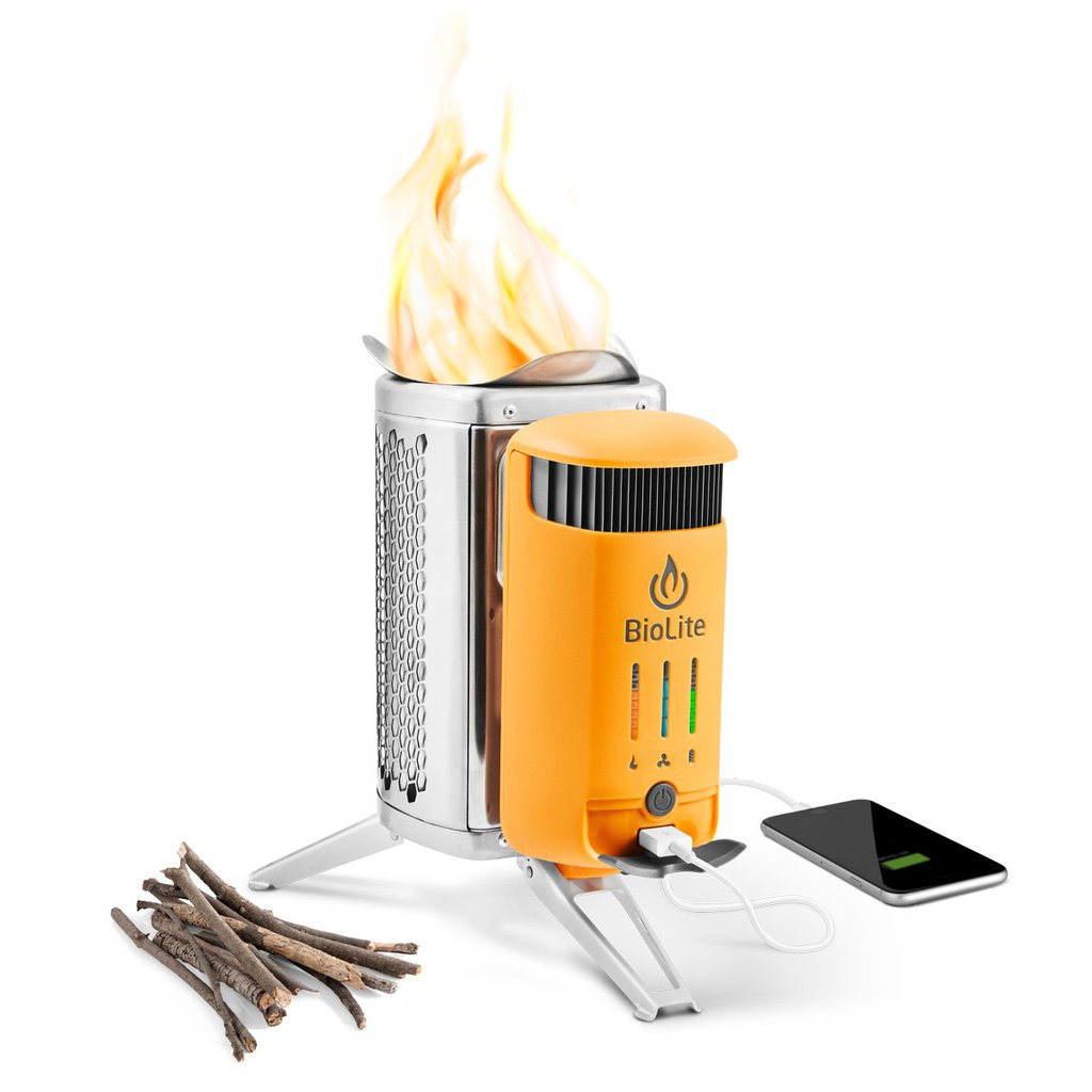 BioLite  CampStove 2 USB Wood Cooker with LED Flexlight