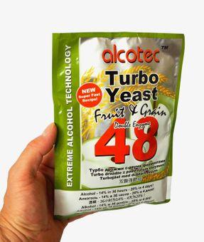 ALCOTEC Turbohefe 48H ❁ Spezial Frucht & Korn ❁ 14% in 36 Stunden ❁ 20% in 4 Tagen