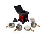 """Huss"" Neudorfer Stool Stove, Incense & Resin stove  ❁ red/black"