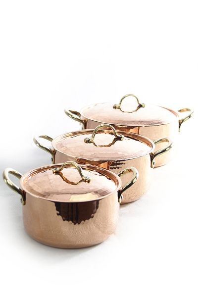 CopperGarden®  Set 3x Casserole/Copper Pot in different sizes