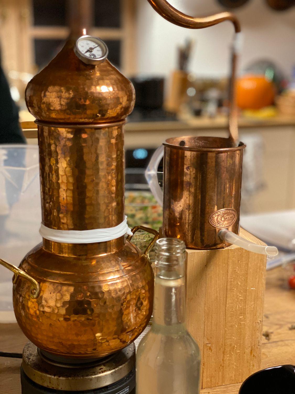 CopperGarden®  Alambic Essence plus ❁ 2 litres avec colonne amovible et thermomètre