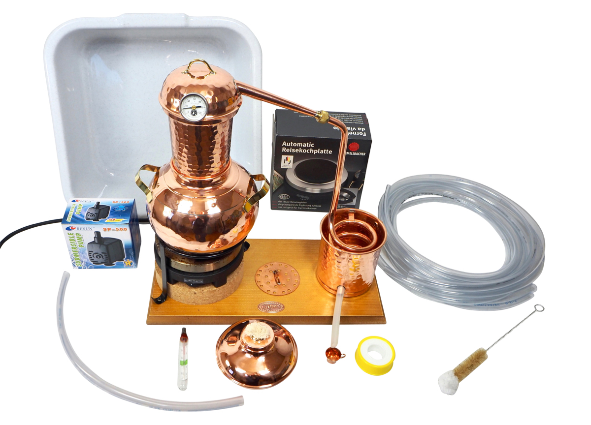 CopperGarden®  Table-top Still Arabia, 2L electric with accessory set