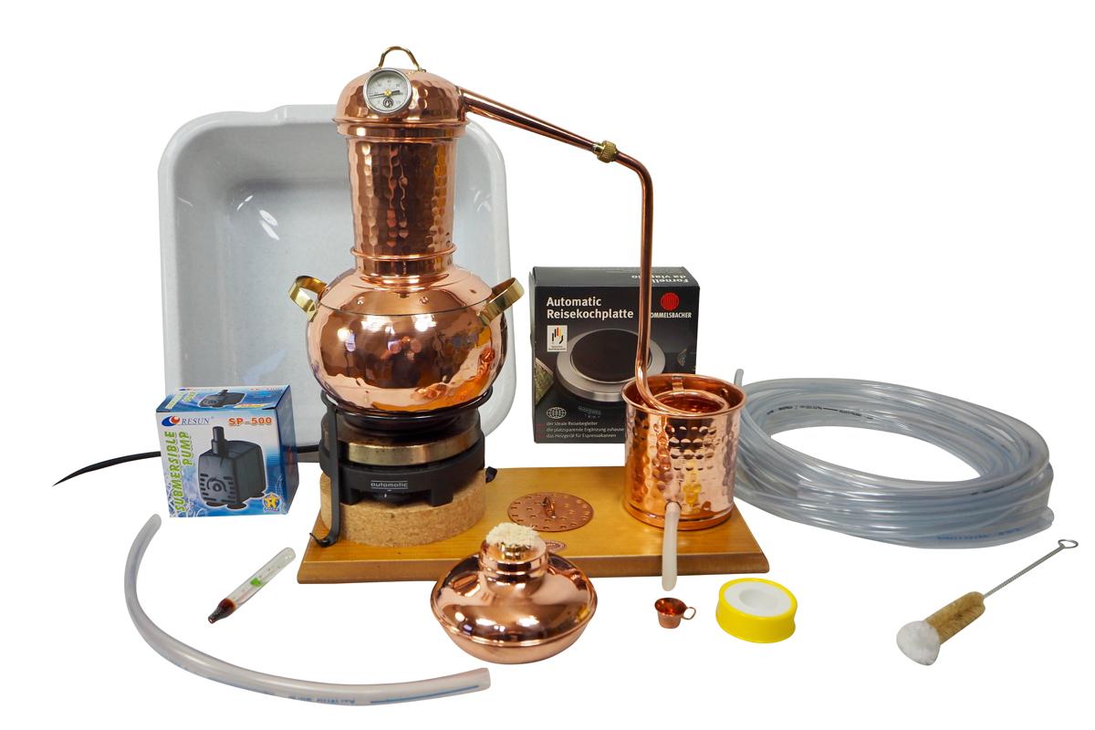 CopperGarden  Destillieranlage ARABIA 2 Liter Tischdestille Sorgenfrei Paket mit allem Zubehör