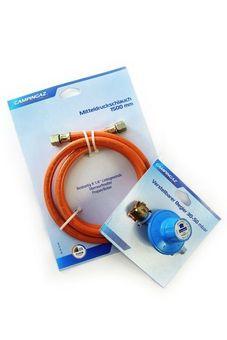 SET: Gas pressure regulator & gas hose (DE)