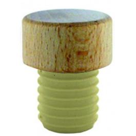 PE Korken mit Holzgriff - 11 mm - zum sicheren Verschließen Ihrer Flaschen