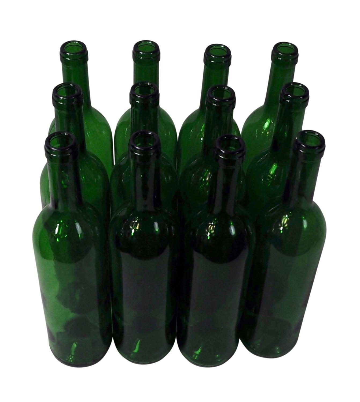 Wine Bottle Quot Bordeaux Quot Green 0 75 L