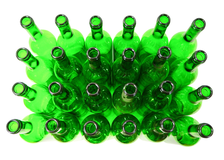 24 x Weinflaschen Bordeaux ❀ 0,75 Liter ❀ grün