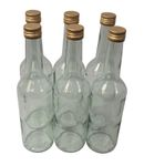 6 x Clear 0,35 L bottle with screw cap
