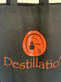 Destillatio Umhängetasche - Einkaufsbeutel - schwarz