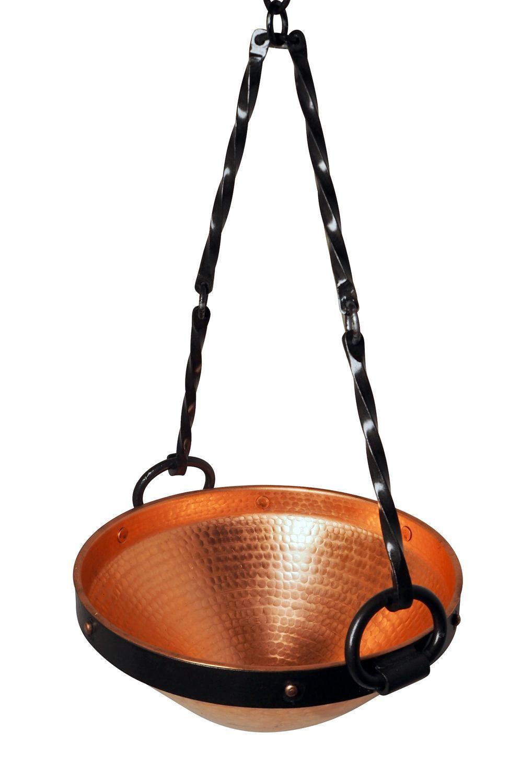 """CopperGarden®"" Celtic Copper Cauldron 5 litres with metallic suspension"