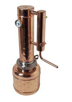 """""""CopperGarden"""" Destille EASY  MOONSHINE XXL 2 Liter mit Thermometer - neues Modell 2020"""