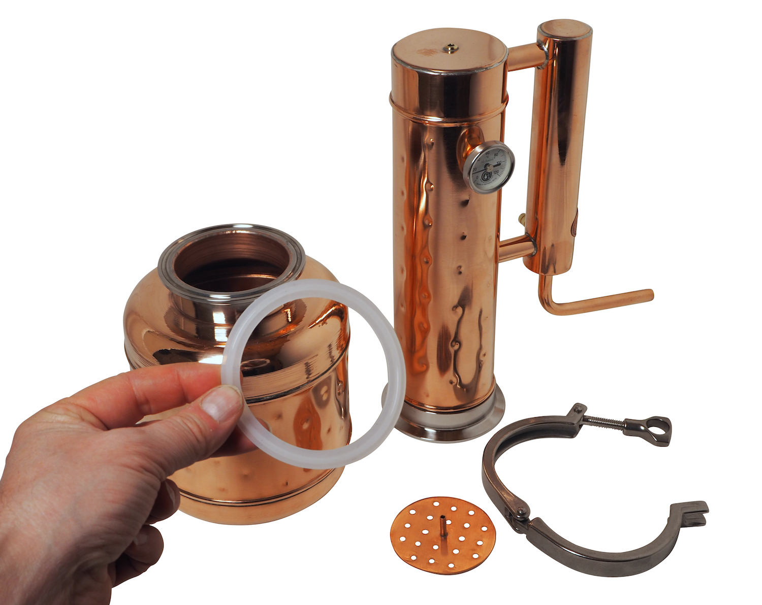 """CopperGarden"" Destille EASY MOONSHINE XL 2 Liter mit Thermometer"